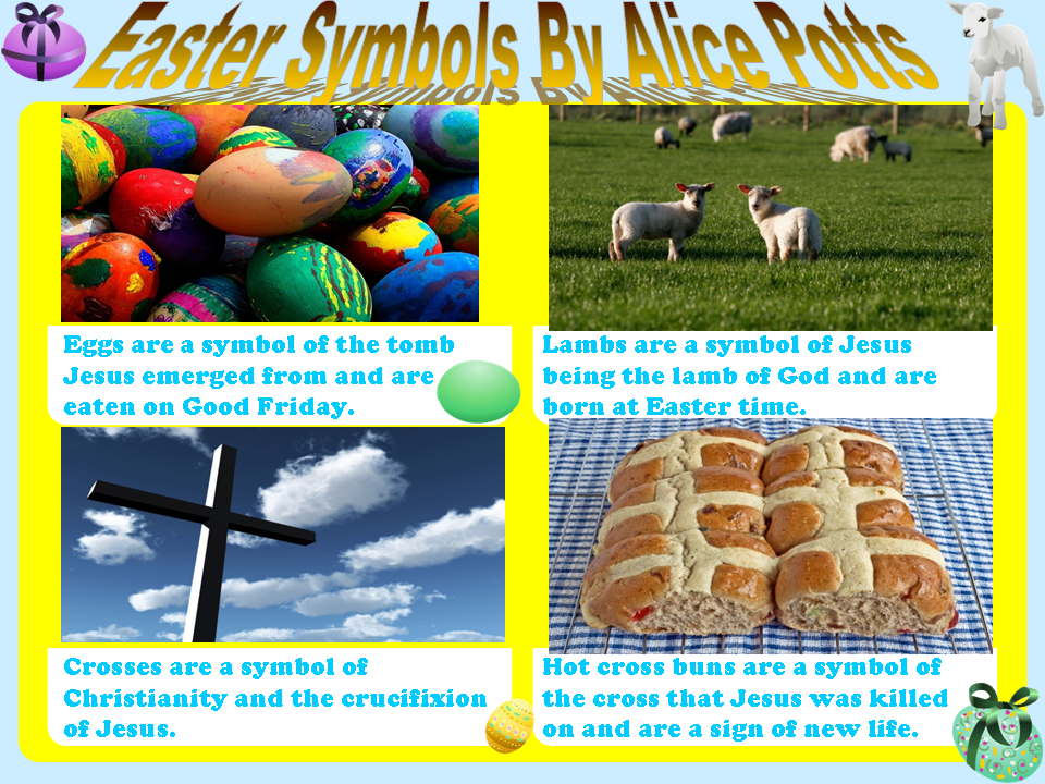 Parkfield Primary School Year 4 Easter Symbols Posters