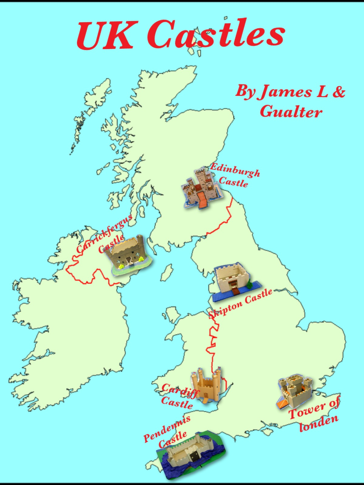 Map Of Castles In England  London Map