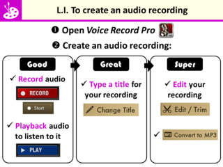 LI for Audio Recording